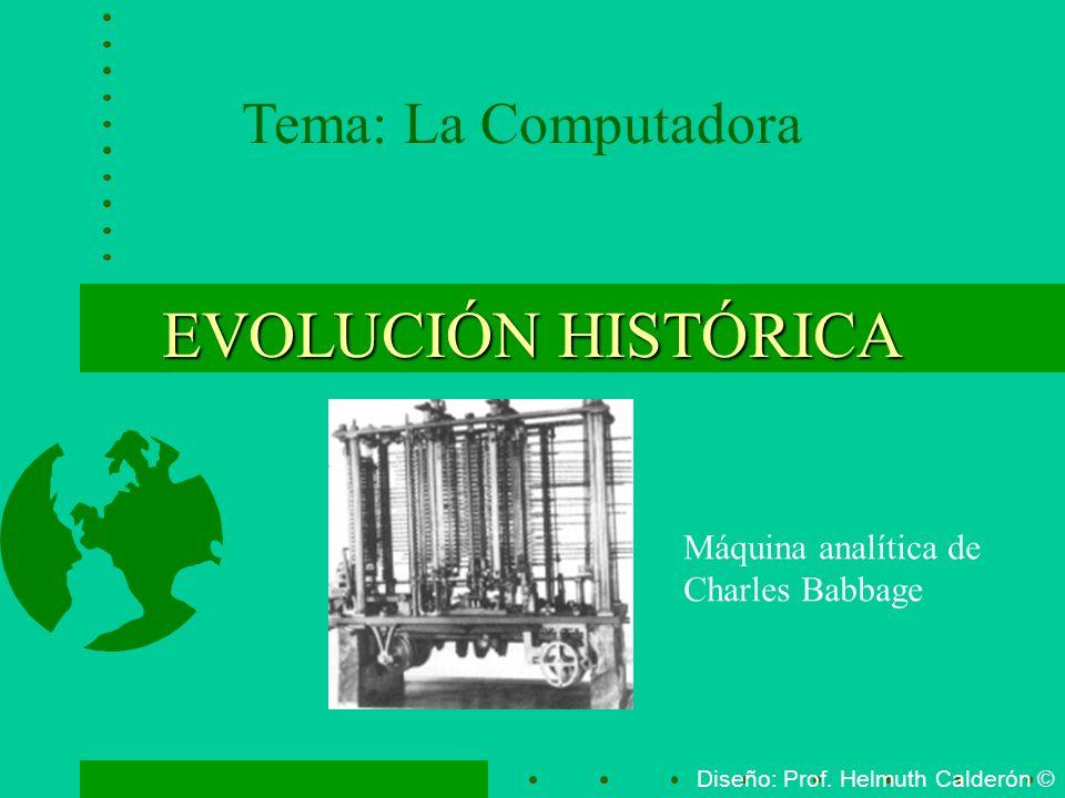 EVOLUCIÓN HISTÓRICA Tema: La Computadora Máquina analítica de