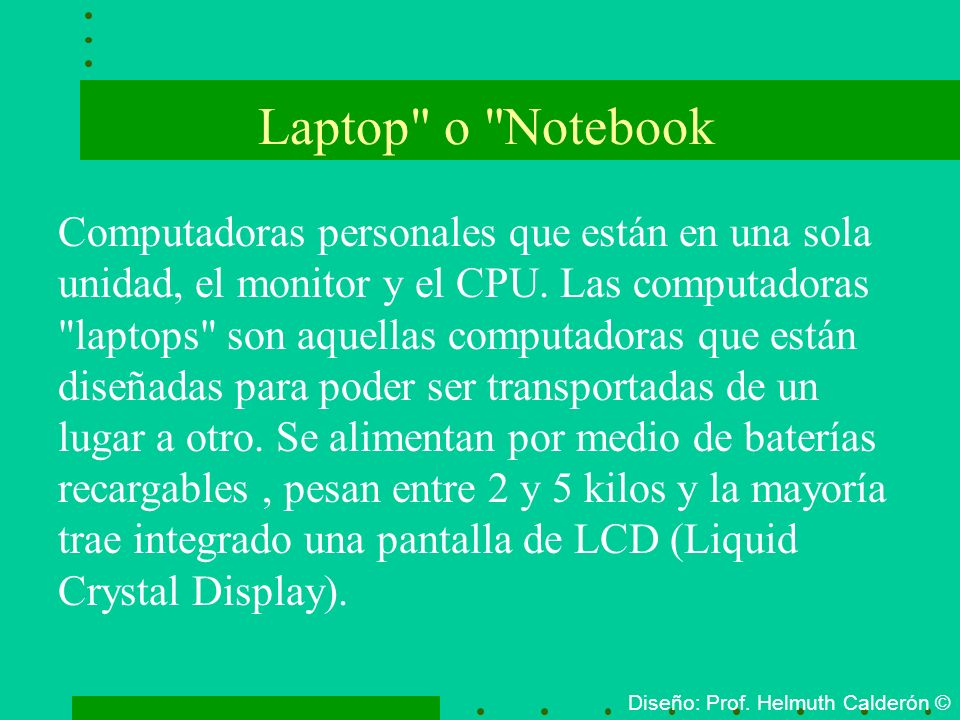 Laptop o Notebook