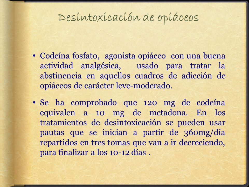 Desintoxicación de opiáceos