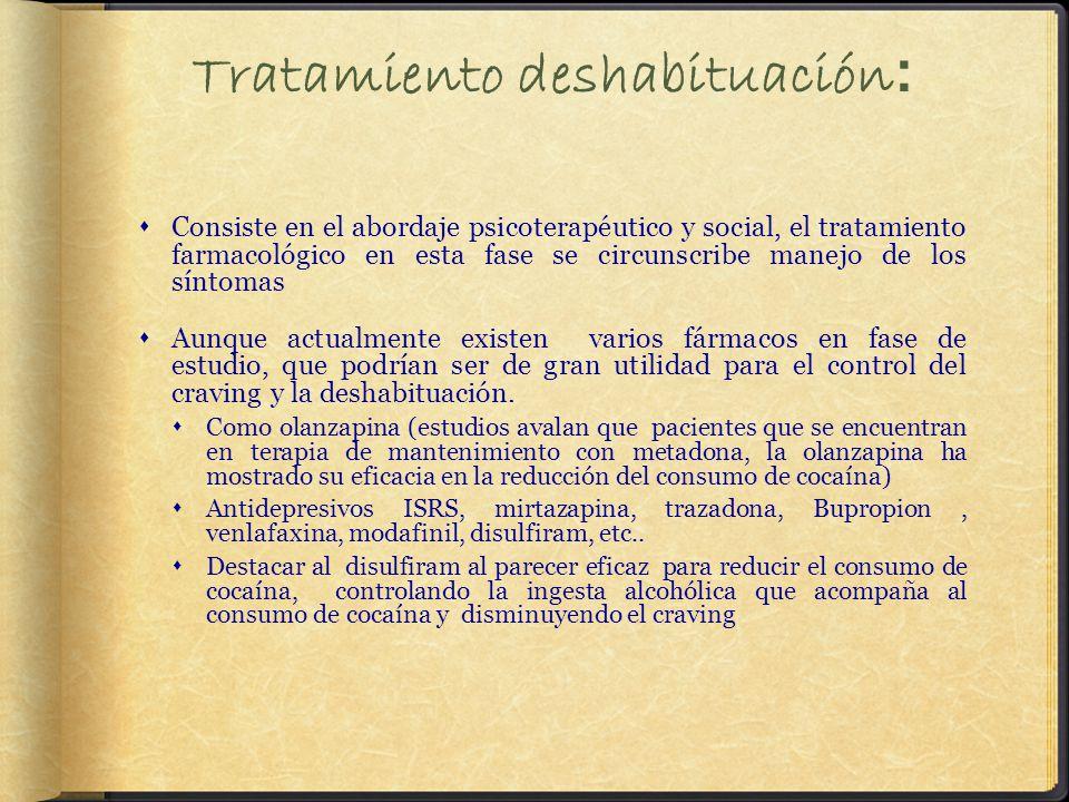 Tratamiento deshabituación: