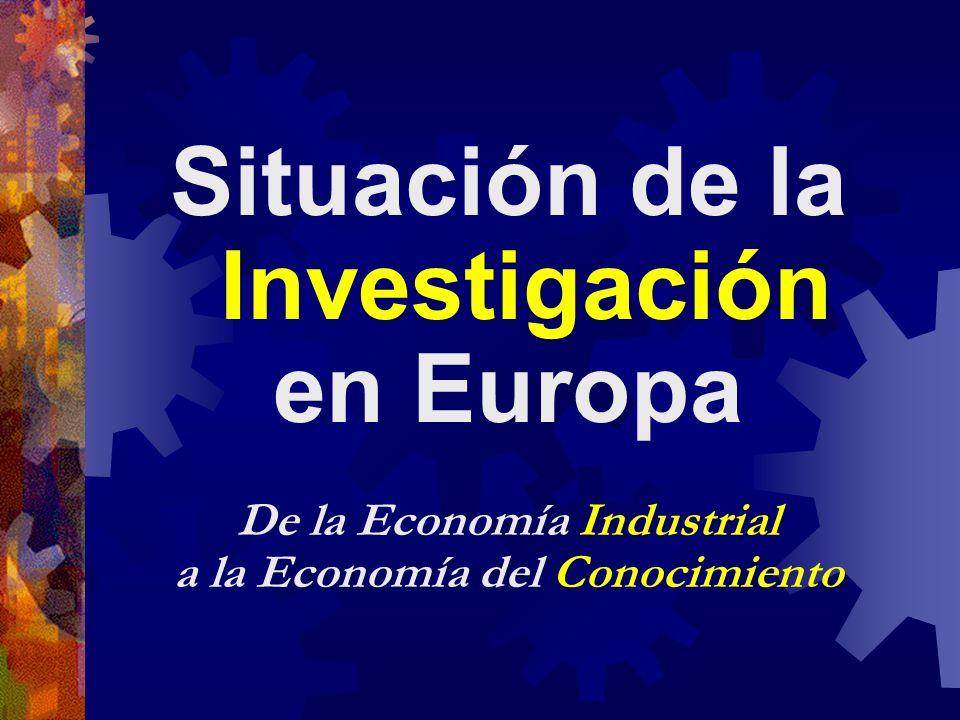 Situación de la Investigación en Europa