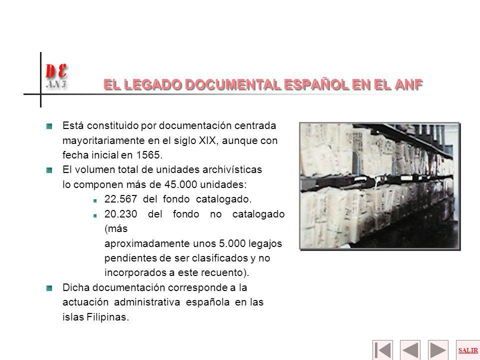 EL LEGADO DOCUMENTAL ESPAÑOL EN EL ANF