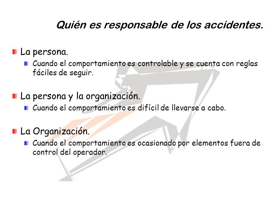 Quién es responsable de los accidentes.