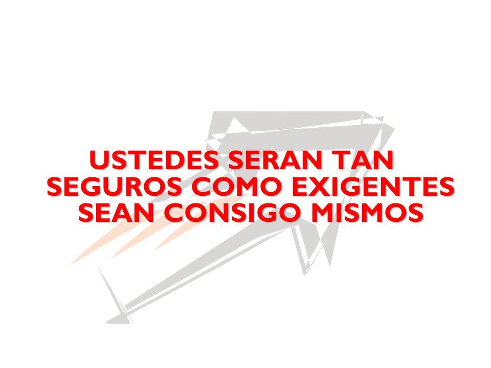 USTEDES SERAN TAN SEGUROS COMO EXIGENTES SEAN CONSIGO MISMOS