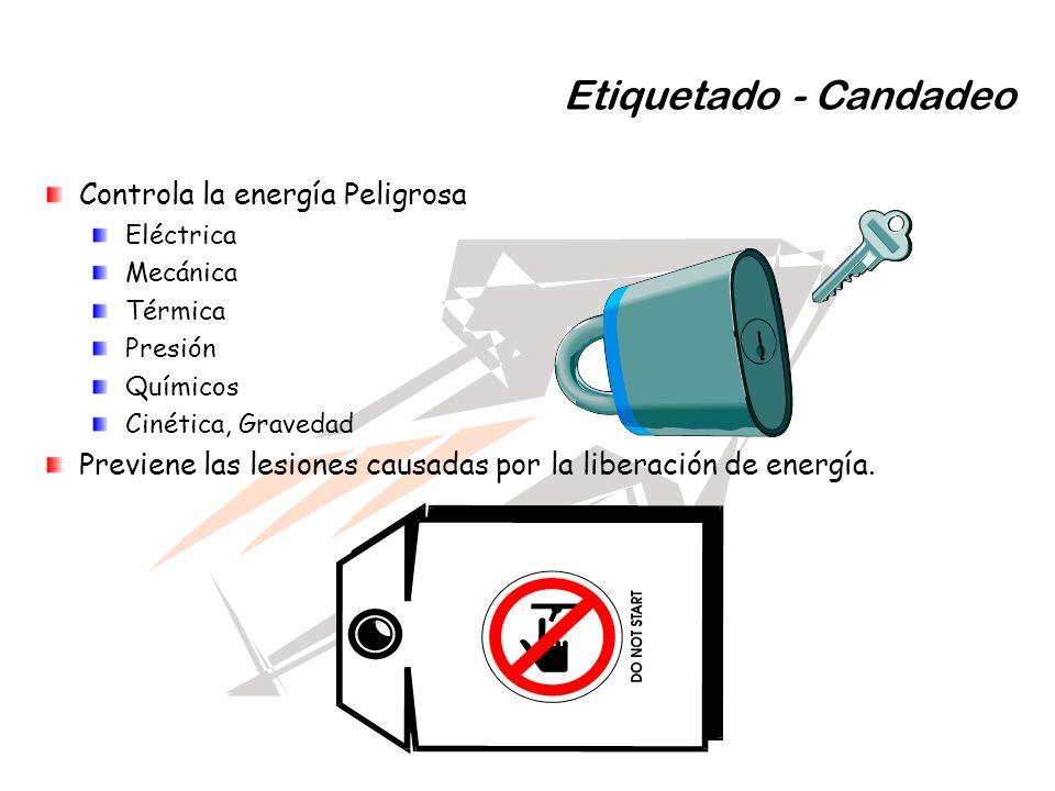 Etiquetado - Candadeo Controla la energía Peligrosa