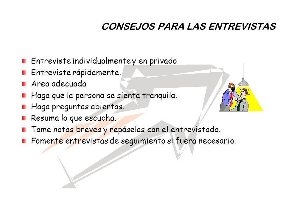 CONSEJOS PARA LAS ENTREVISTAS