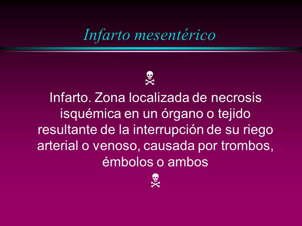 Infarto mesentérico