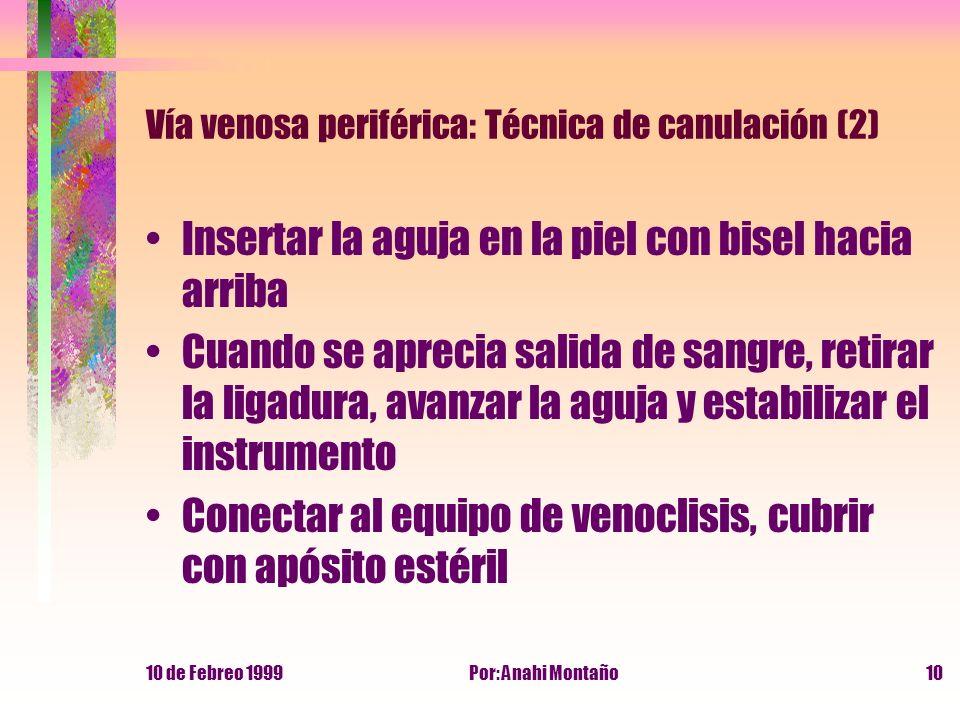 Vía venosa periférica: Técnica de canulación (2)