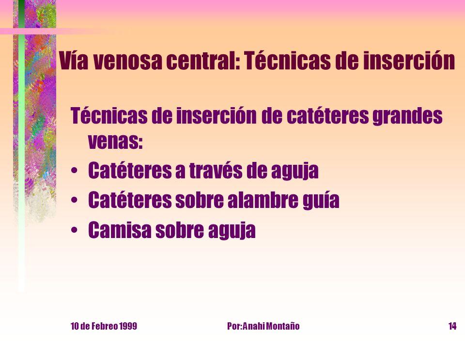 Vía venosa central: Técnicas de inserción