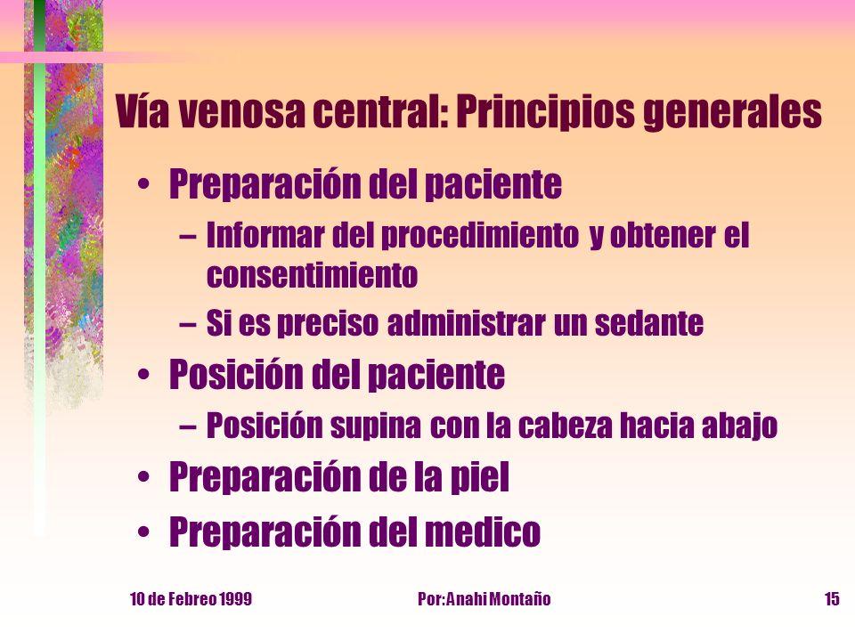 Vía venosa central: Principios generales