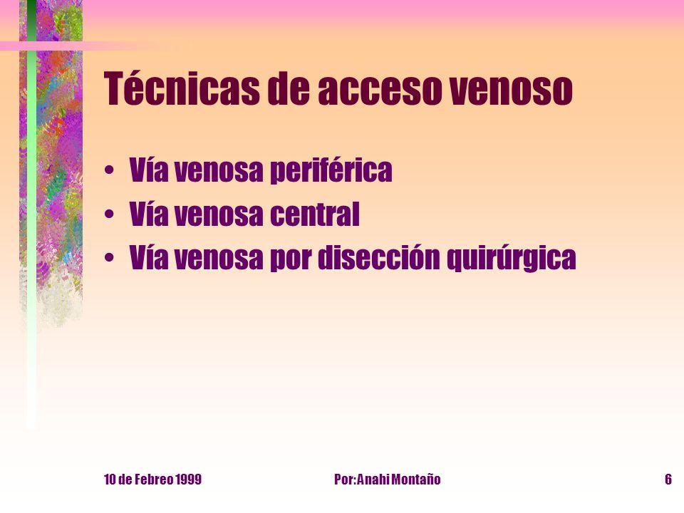 Técnicas de acceso venoso