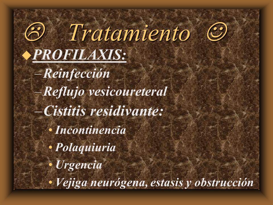 L Tratamiento J PROFILAXIS: Cistitis residivante: Reinfección