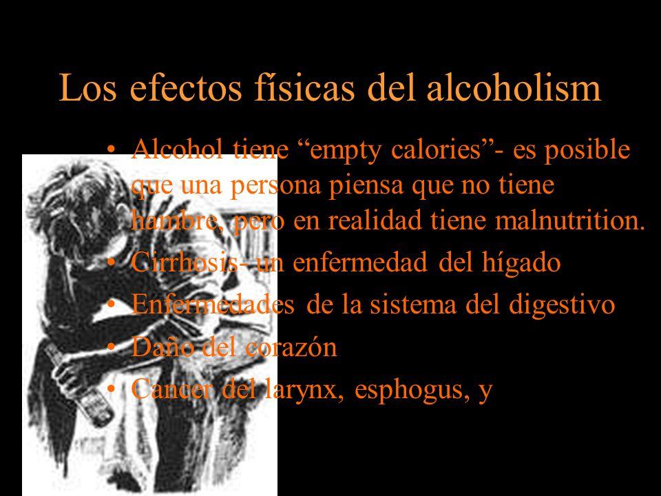 Los efectos físicas del alcoholism
