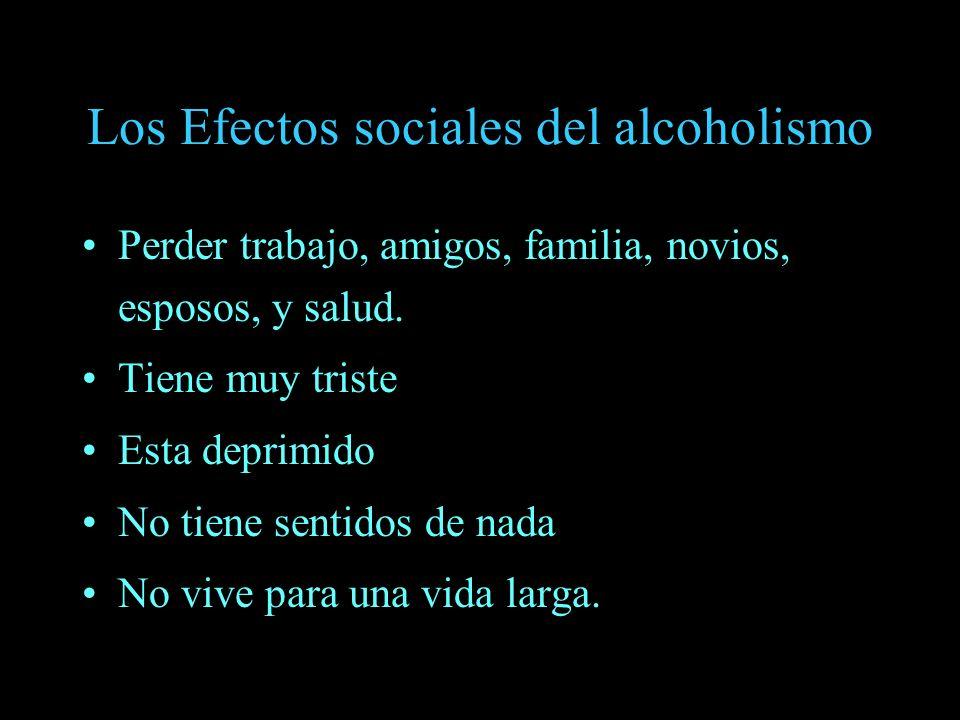 Los Efectos sociales del alcoholismo