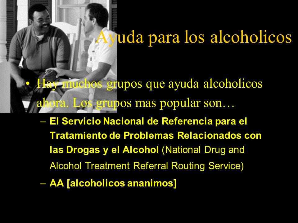 Ayuda para los alcoholicos