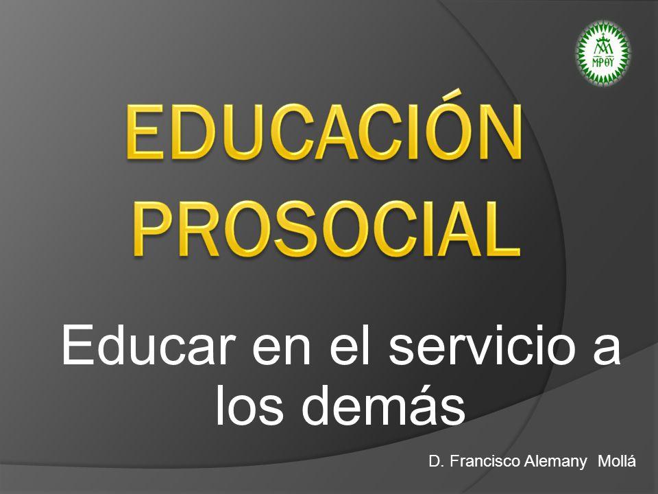 Educar en el servicio a los demás