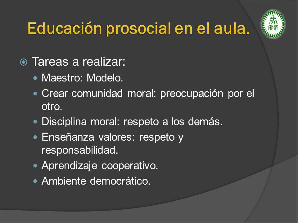 Educación prosocial en el aula.