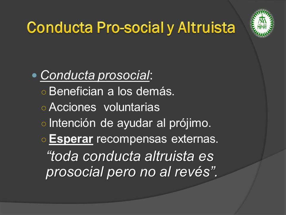 Conducta Pro-social y Altruista