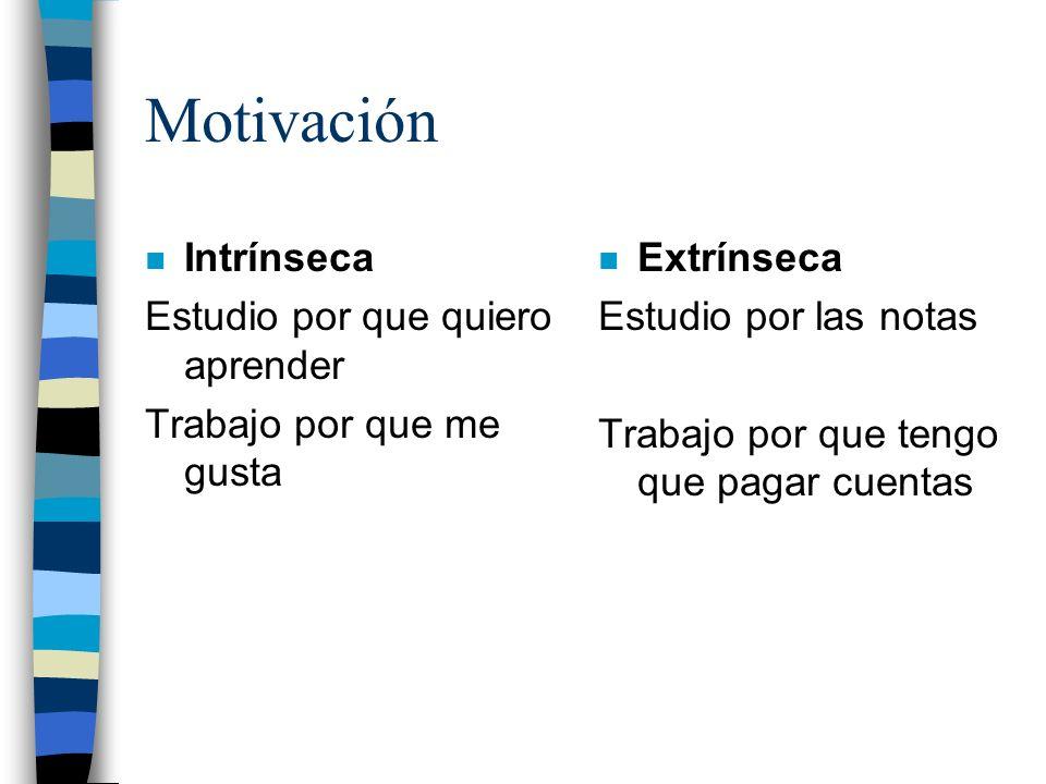 Motivación Intrínseca Estudio por que quiero aprender