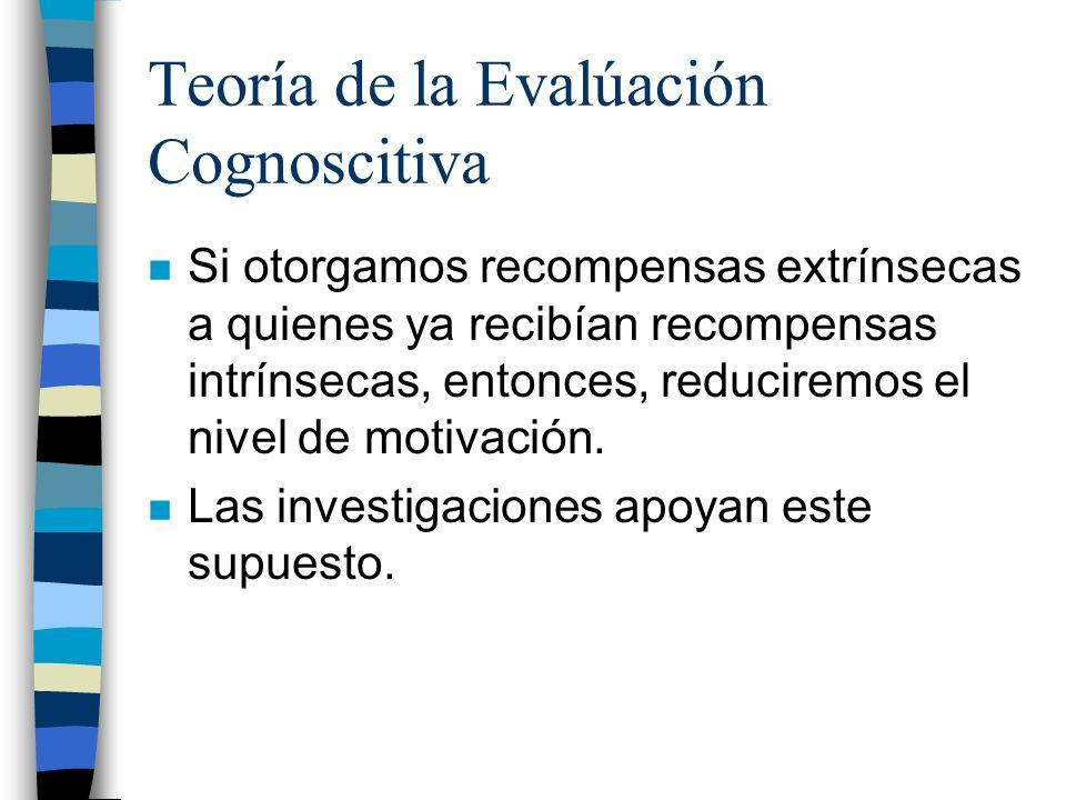 Teoría de la Evalúación Cognoscitiva