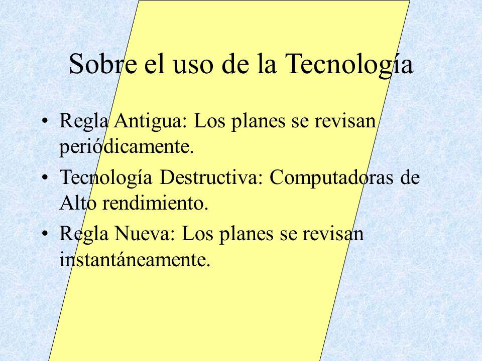 Sobre el uso de la Tecnología