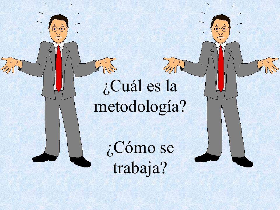 ¿Cuál es la metodología ¿Cómo se trabaja
