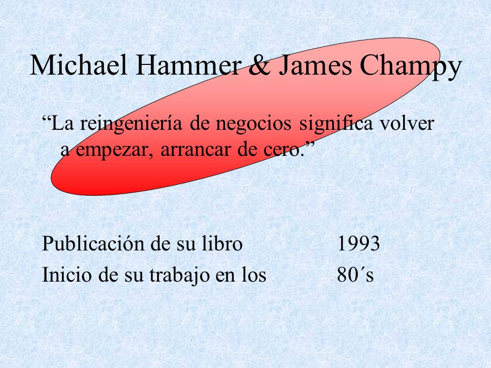 Michael Hammer & James Champy