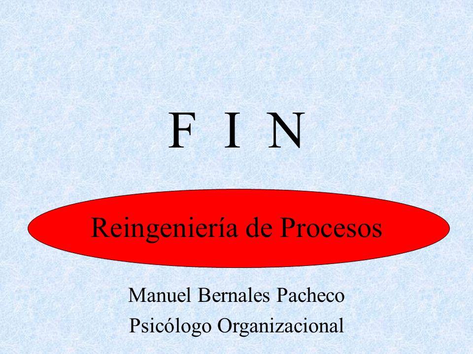 F I N Reingeniería de Procesos Manuel Bernales Pacheco