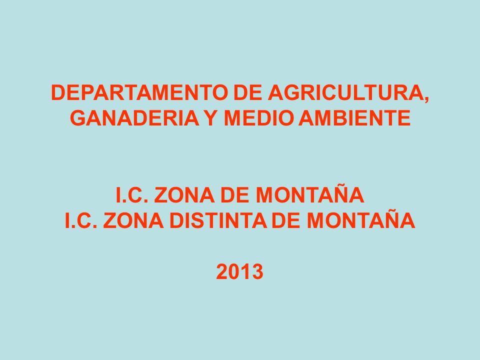 DEPARTAMENTO DE AGRICULTURA, GANADERIA Y MEDIO AMBIENTE