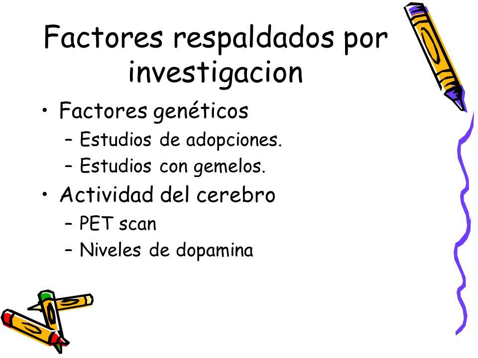 Factores respaldados por investigacion