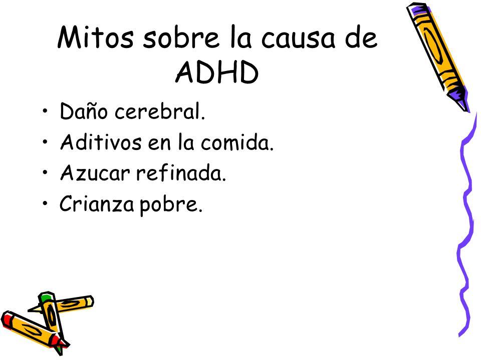 Mitos sobre la causa de ADHD