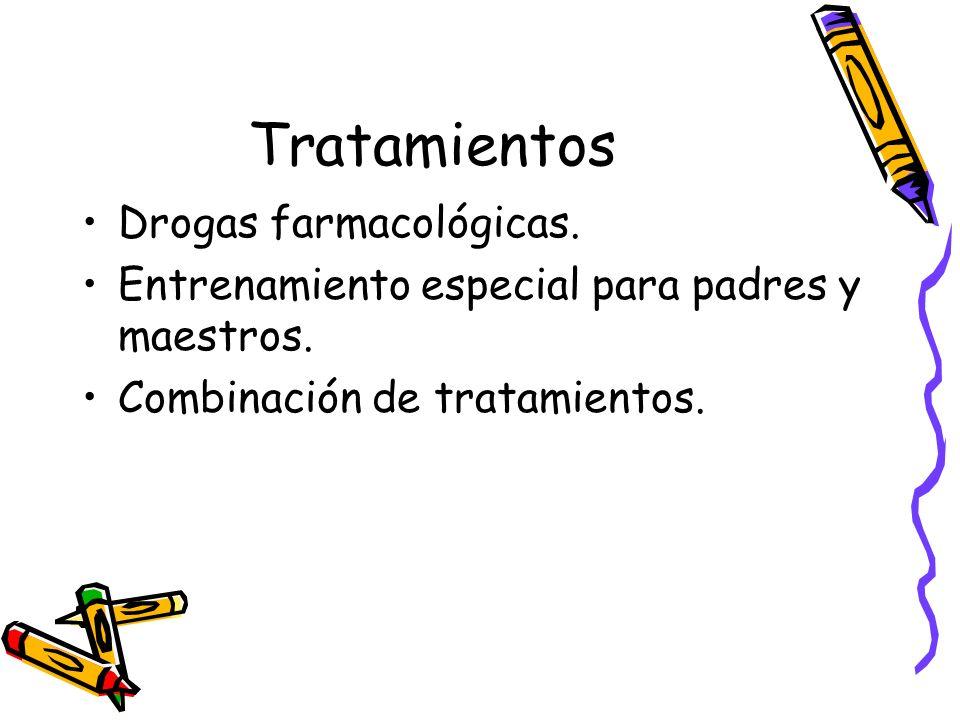 Tratamientos Drogas farmacológicas.