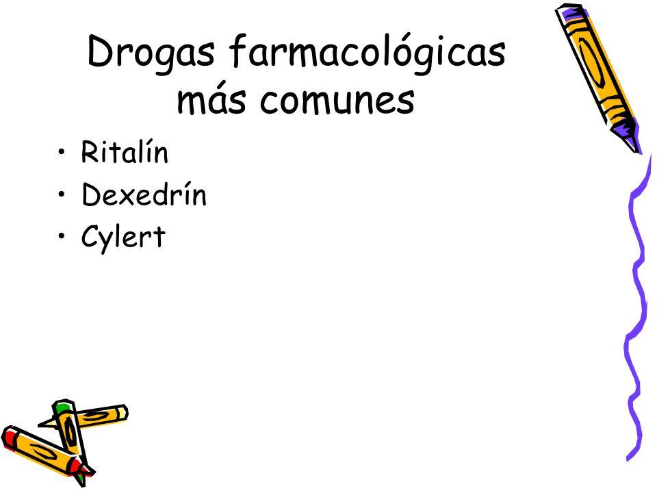 Drogas farmacológicas más comunes