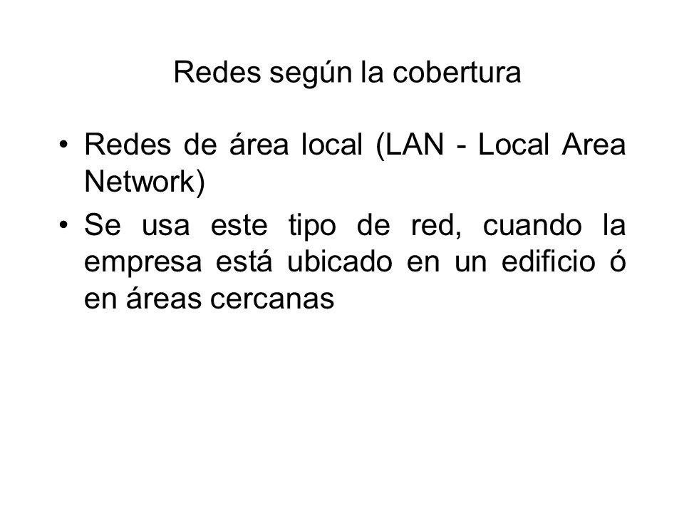 Redes según la cobertura