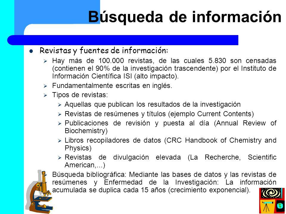 Búsqueda de información (I)