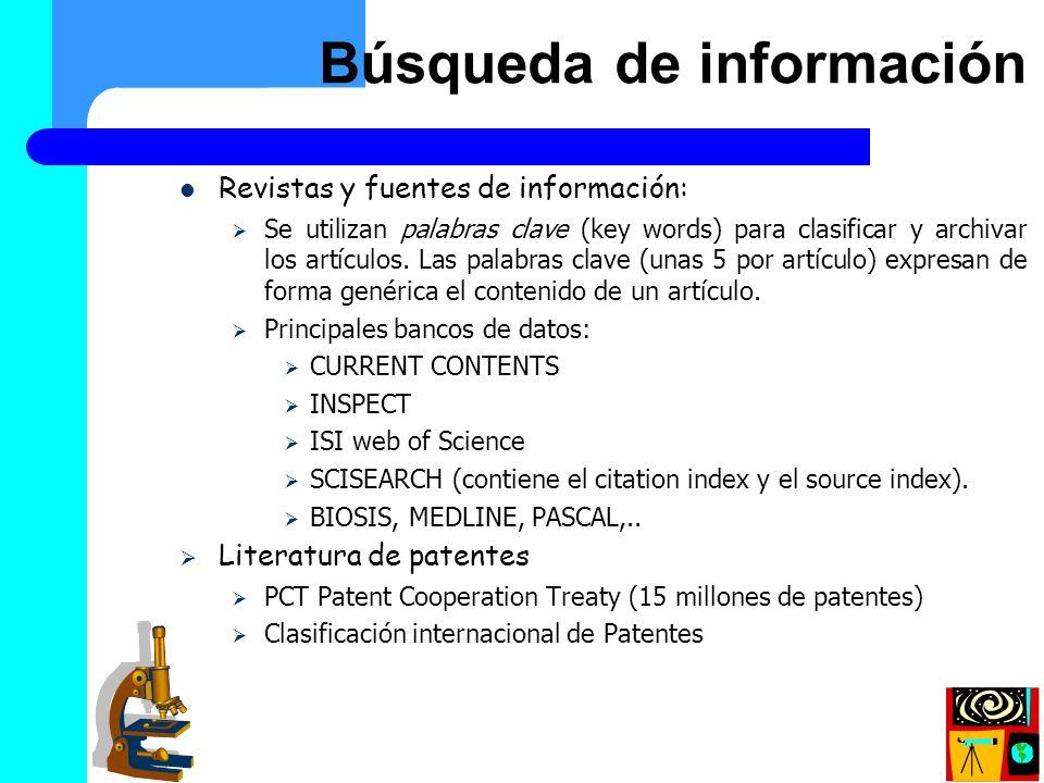 Búsqueda de información (II)