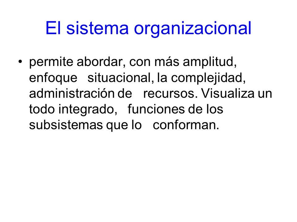El sistema organizacional