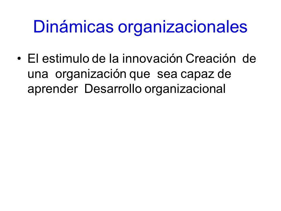 Dinámicas organizacionales