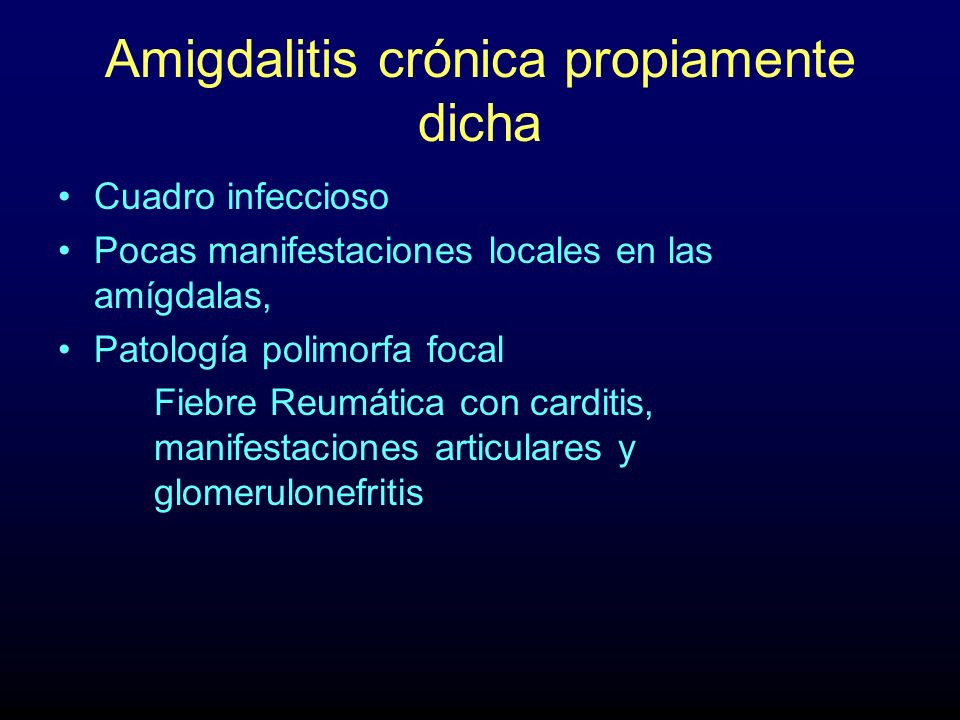 Amigdalitis crónica propiamente dicha