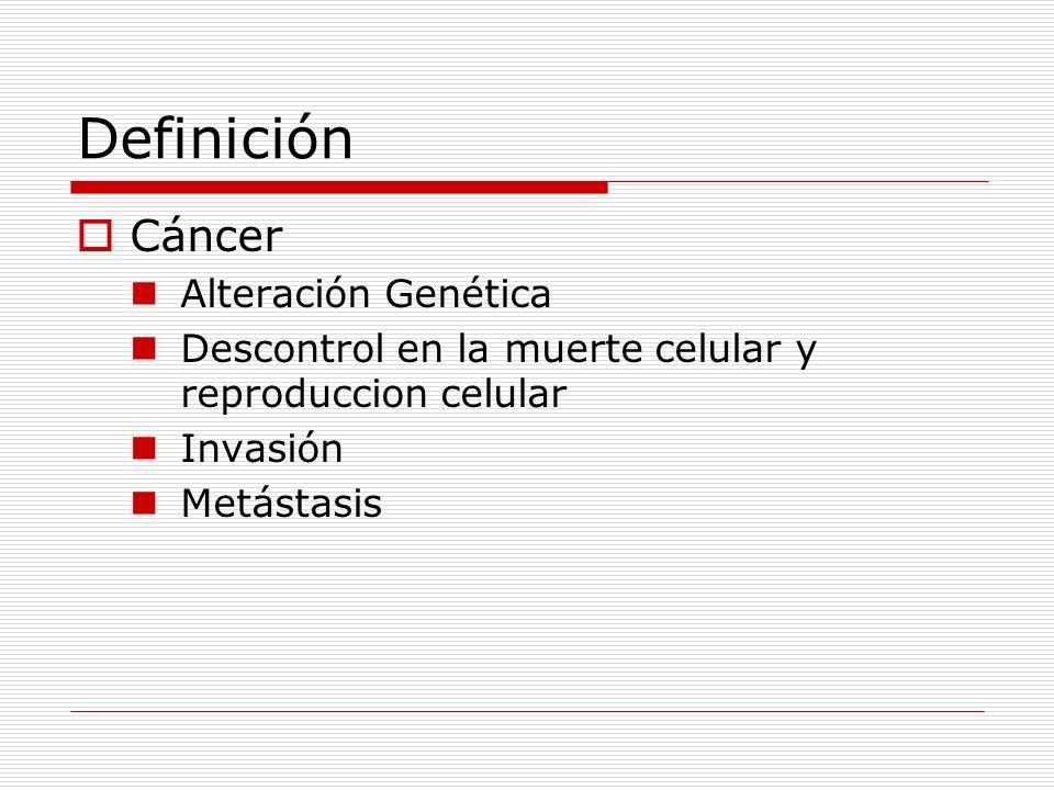 Definición Cáncer Alteración Genética