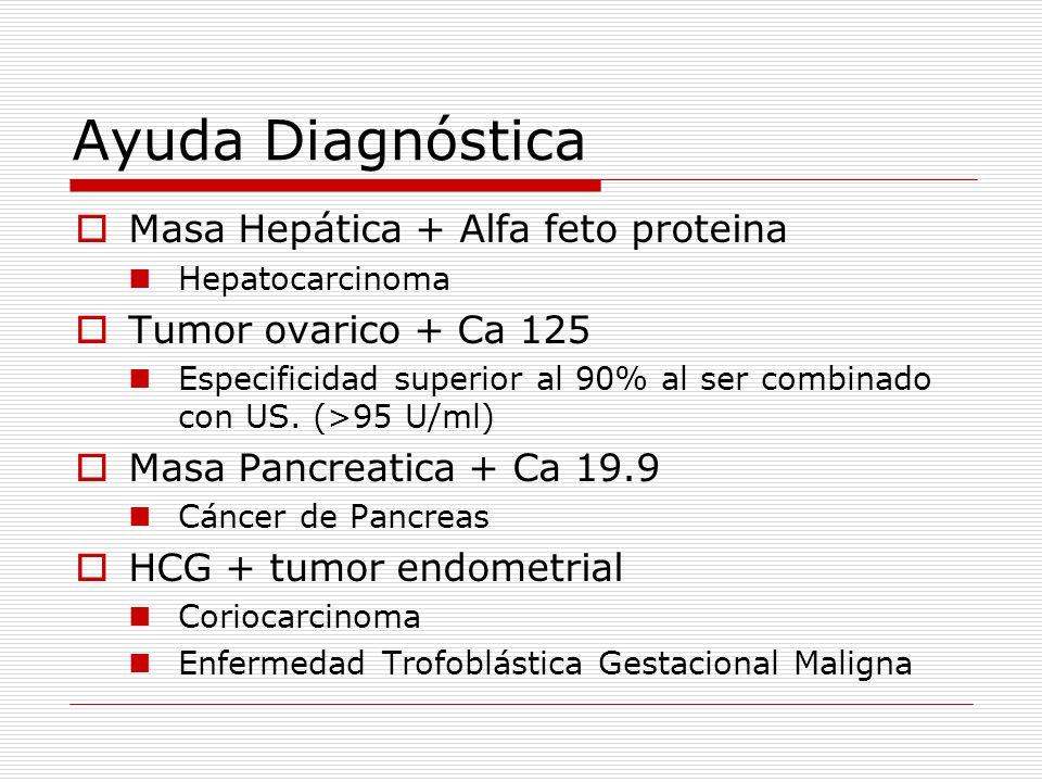 Ayuda Diagnóstica Masa Hepática + Alfa feto proteina