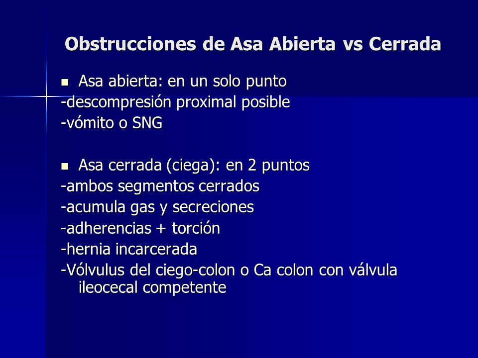 Obstrucciones de Asa Abierta vs Cerrada