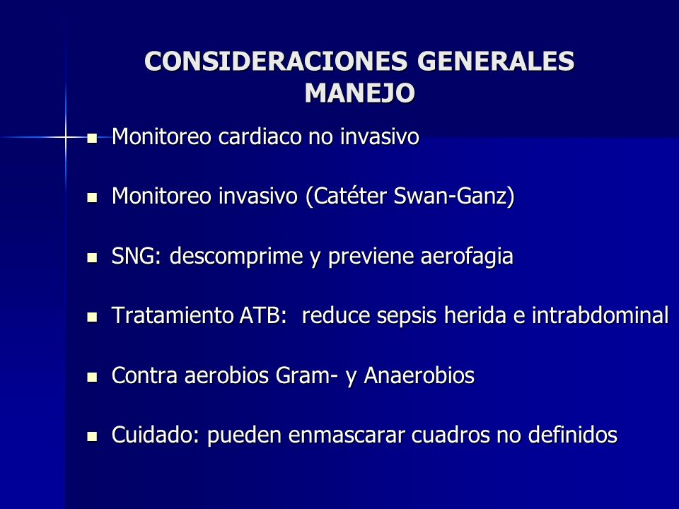 CONSIDERACIONES GENERALES MANEJO