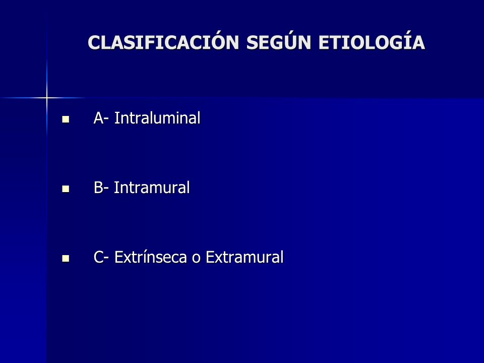 CLASIFICACIÓN SEGÚN ETIOLOGÍA