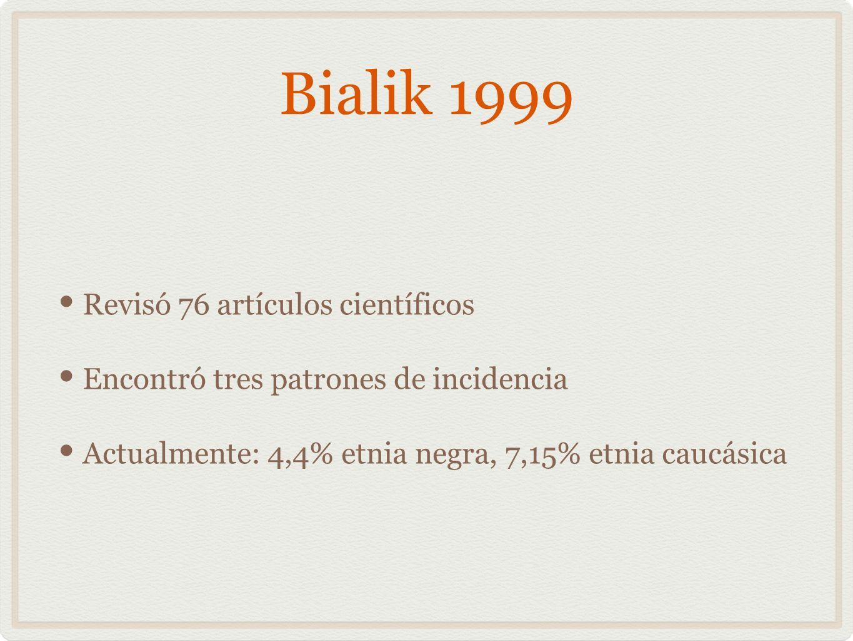 Bialik 1999 Revisó 76 artículos científicos