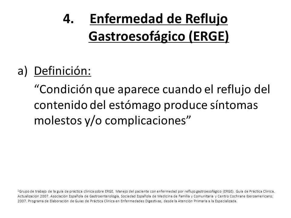 Enfermedad de Reflujo Gastroesofágico (ERGE)