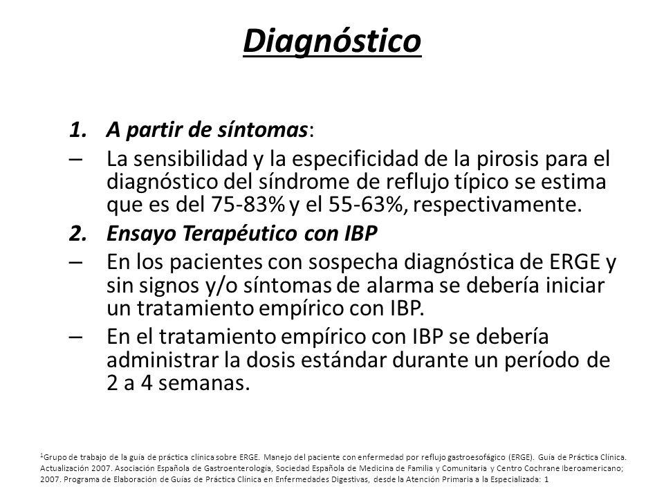 Diagnóstico A partir de síntomas:
