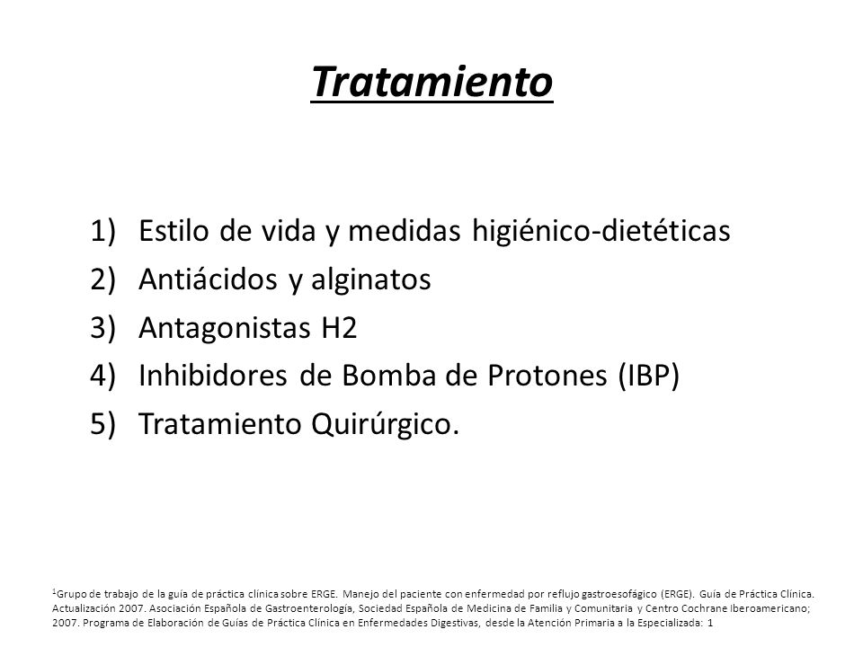 Tratamiento Estilo de vida y medidas higiénico-dietéticas