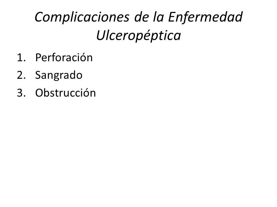 Complicaciones de la Enfermedad Ulceropéptica