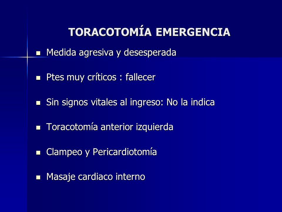 TORACOTOMÍA EMERGENCIA
